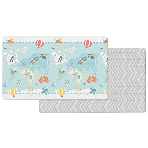Skip Hop Little Travelers Reversible Waterproof Foam Baby Play Mat, Multi Colored, 86