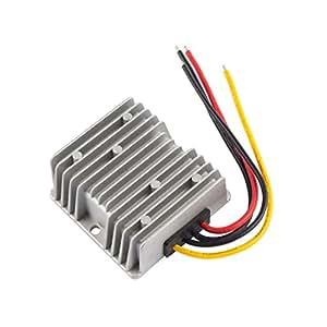 Sourcingmap-Dc 48V (40V ~ 60V) Step-down a DC 12V 10A 120W impermeable coche Regulador de convertidor de voltaje de Power Supply Module Transformer