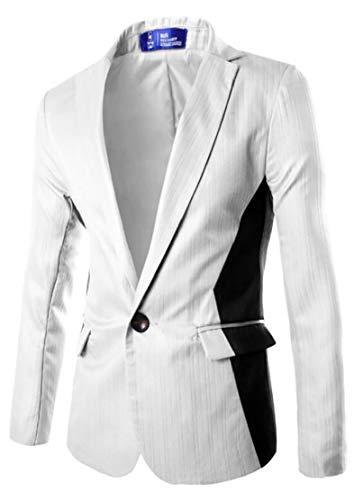 Business Giacche Autunno Bianco Smoking Blazer Uomini Matrimoni Casual Slim Fit Ttyllmao rIPZr