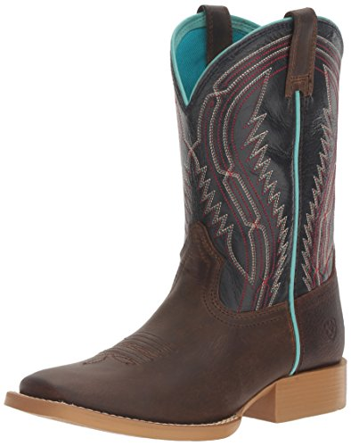 Kids' Chute Boss Western Cowboy Boot, Distressed Brown, 3 M US Little Kid (Kids Leather Distressed)