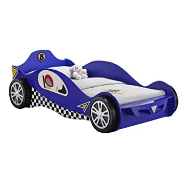 Childrens Racing Car Bed Blue Racing Car Bed Frame 3ft Single Kids ...
