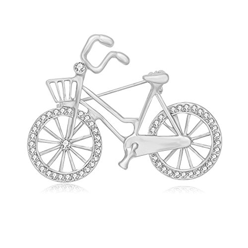 SENFAI Sports Style Gold Color Bike and Bicycle Brooch for Sportsperson (silver) -  YIWU XINGHUI JEWELRY CO.,LTD, SF-BC170622-L