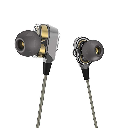 Actionpie in-Ear Headphones Earbuds High Resolution Heavy Bass with Mic for Smart Android Cell Phones Samsung HTC Lg G4 G3 Mp3 Mp4 Earphones - Gray