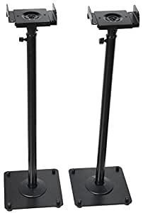 Amazon Com Videosecu 2 Adjustable Steel Speaker Stands