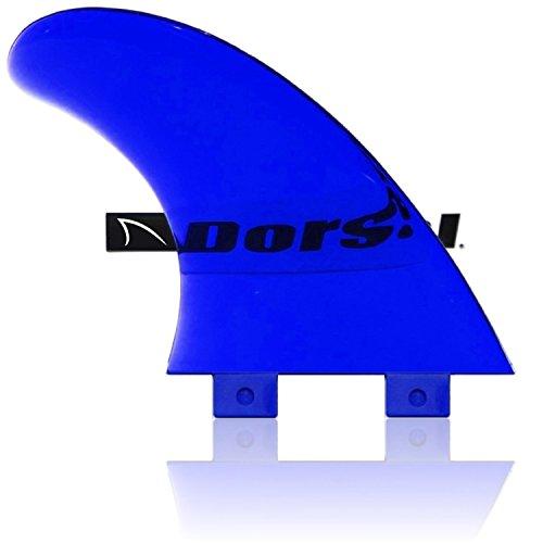 Dorsal Performance Flexrez Core Surfboard Thruster Fins (3) FCS Compatible Blue