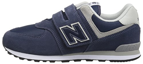 Pictures of New Balance Boy's 574v1 Essentials Hook IV574GV Navy/Grey 5
