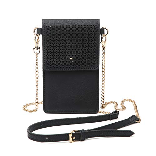 seOSTO Small Crossbody Bag, Cell Phone Purse Smartphone Wallet with Metal Chain Strap Handbag for Women ()