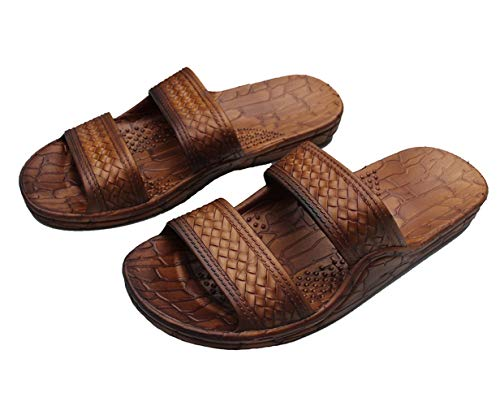 IMPERIAL SANDALS HAWAII Footwear Brown Black Gray Jesus Sandal Slipper for Women Men and Teen Classic Style (13 Women/11 Men, Brown)