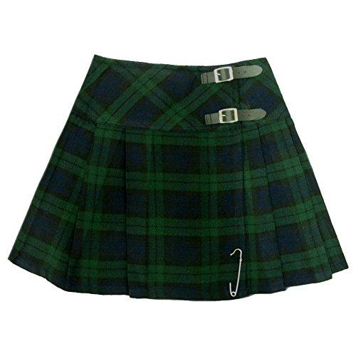 Tartanista Black Watch 16.5 inch Mini Kilt Skirt Size US 12