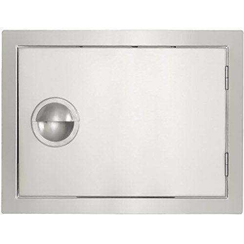 Flush Single Mounted Drawers (BBQGuys.com Portofino Series 20-inch Stainless Steel Right-hinged Single Access Door - Horizontal)