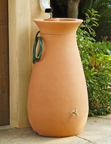 Algreen Products Cascata Rain Barrel 65-Gallon, Terra Cotta