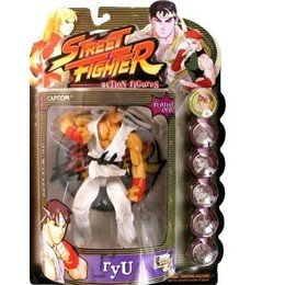 Street Fighter Round 1 Ryu Action Figure (Player One - White Outfit)