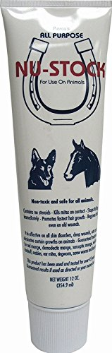 Nu-Stock Ointment Animal Health Supplies Relief Red Mange Ringworm Cuts (12-Ounce) by Nu-Stock