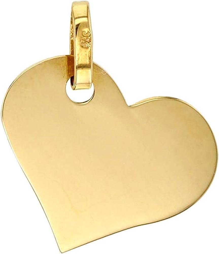 Jouailla 306036 Pendentif coeur plein en Or 750//1000