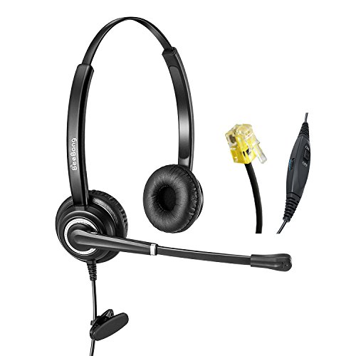 (Telephone Headset Cisco Headsets for Call Centers Offices RJ9 with Noise Cancelling Microphone Mic Mute and Volume Control)