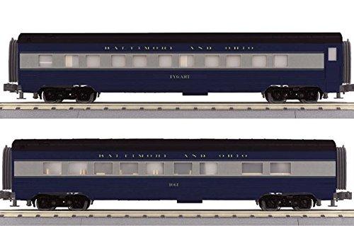 B&O 2 CAR 60' STREAMLINE SET - Passenger Streamline Set 60