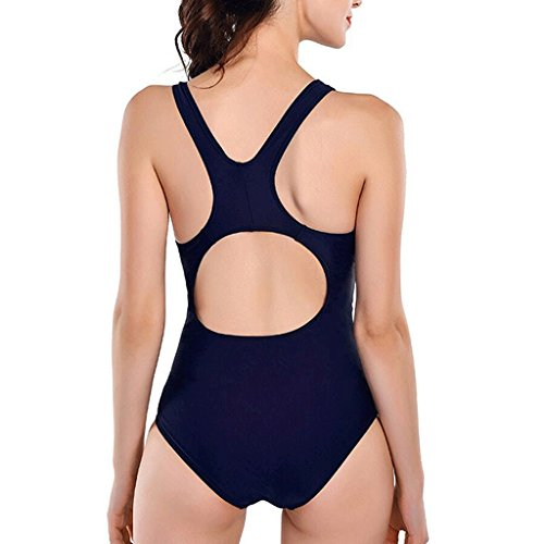 Traje de baño de competición de moda de traje de baño de secado rápido bikini de una sola pieza Negro