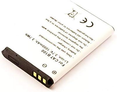 3,7Wh Akku passend f/ür CAT B100 1000mAh Li-ion 3,7V