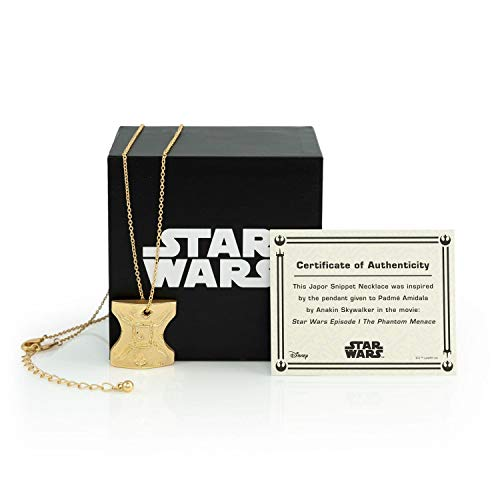 SalesOne International, LLC Star Wars Japor Snippet Necklace | Collectible Star Wars Jewelry Pendant | 18-Inch Loop & 1-Inch Pendant -
