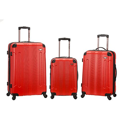 Rockland 3 Piece Sonic Abs Upright Set, Red by Rockland