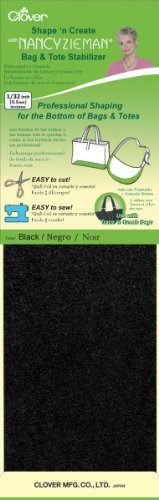 Nancy Zieman Bag - Clover Shape 'N Create with Nancy Zieman, Black 2 pcs. 5-Inch by 20-Inch