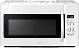 Samsung ME18H704SFW 1.8 Cu. Ft. 1000W Over-the-Range Microwave, White