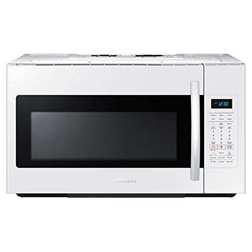 Samsung ME18H704SFW 1.8 Cu. Ft. 1000W Over-the-Range Microwave, White by Samsung