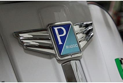 autocollant plastique incurv/é Cascade ailes SIP style d/écoratif pour eckiges Piaggio embl/ème MARK II 36/x 47/mm chrome