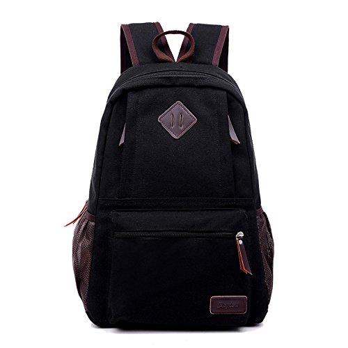 Viajes ocio lona mochilas de los hombres , coffee color Black