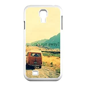 Custom Colorful Case for SamSung Galaxy S4 I9500, Let's Run Away Cover Case - HL-495545 Kimberly Kurzendoerfer