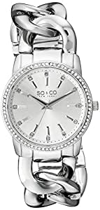 SO & CO New York Women's 5071.1 SoHo Analog Display Quartz Silver Watch