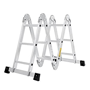 Finether 3 7 m en131 andamio heavy duty multi purpose for Escaleras aluminio amazon