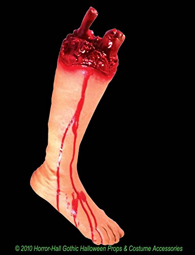 Bloody GORY SEVERED LEG FOOT Body Part Halloween Horror Prop ()