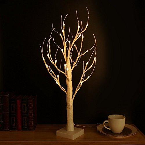 LED White Birch Tree Light 8 Lighting Modes 5ft Christmas