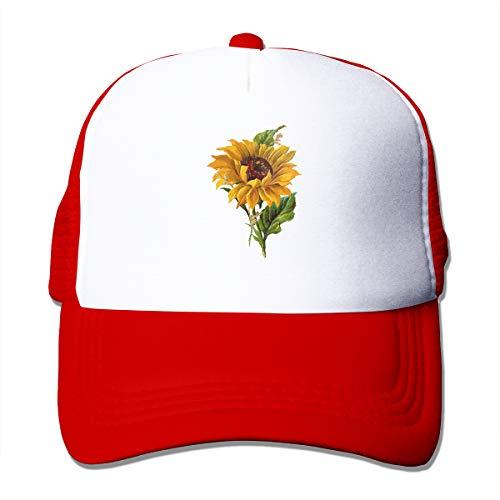Clip Art - Sunflower Adjustable Mesh Trucker Baseball Cap Men/Women Hip-hop Hat Red