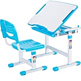VIVO Height Adjustable Childrens Desk & Chair Kids Interactive Work Station Blue (DESK-V201B)