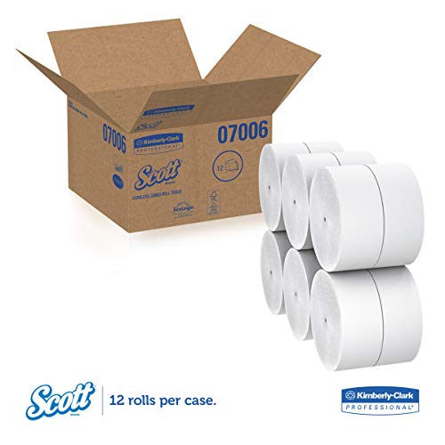 Scott 07006 Coreless JRT Jr. Rolls, 2-Ply, 1150ft (Case of 12 Rolls) by Scott (Image #1)