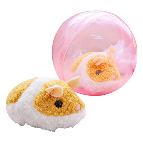 STOBOK Running Hamster Ball Toy Cute Funny Run-About Mini Ball Toy for Kids Children (Brown Hamster)