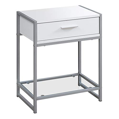 Monarch Specialties I I 3503 Accent, END Table, Night Stand, White
