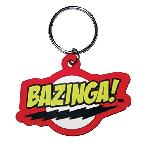 Koothrappali Costume (Official The Big Bang Theory Rubber Keyring - Bazinga)