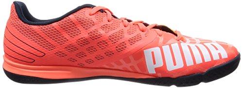 Puma evoSPEED Sala 3.4, Unisex-Erwachsene Futsalschuhe Orange (lava blast-white-total eclipse 02)