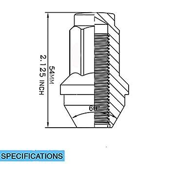 32 M14 X 2.0 Chrome Wheel Lug Nuts for Most Ford Lincoln Trucks SUVs 4L3Z1012A 7L1Z1012A Wheel Lug Nut
