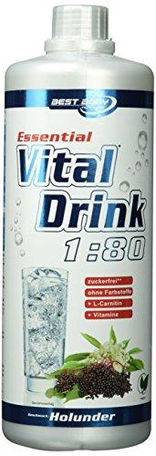 Best Body Nutrition Essential Vital Drink Holunder, 1:80, 1er Pack (1 x 1000 ml)