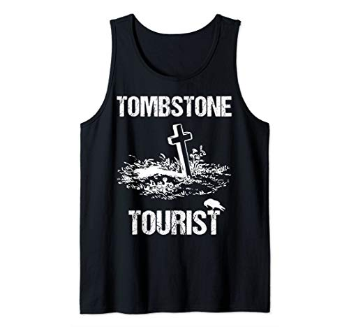 Tombstone Tourist Taphophilia Graveyard I Cemeteries Visitor Tank Top]()