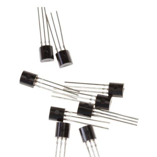 Homyl 100 Unids BC547 TO-92 Paquete NPN 3 Pines Transistor 625 MW Para Amplificadores Interruptores