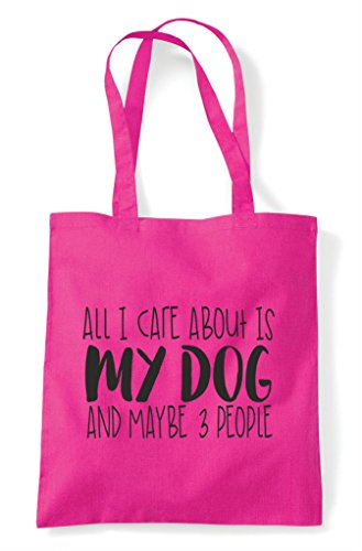 Cute Bag Shopper I Care People Tote Three About Maybe Fuschia Animal Is Themed My All And Dog Funny pvZqB