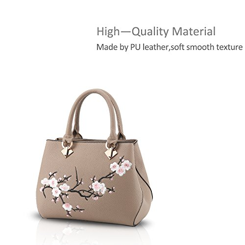 Casual Handbag Khaki Nicole Sweet Black Crossbody amp;Doris Purse Women PU Bag Leather Commuter Shoulder Tote fq15RxS