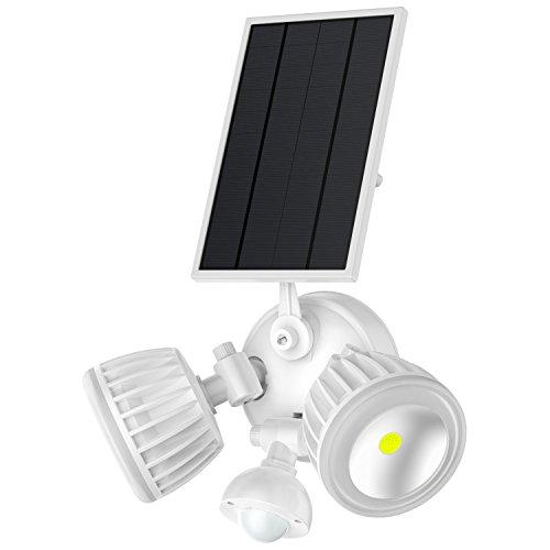 Solar Motion Sensor Light Outdoor,Takusun Adjustable Dual Head 10W COB 1000Lumens IP65 Waterproof Solar Powered LED Security Flood Light for Deck,Patio,Parking Lot,Porch,Garden,Garage,Entryways by Takusun