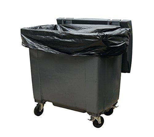 Housses conteneurs 1100L PE BD super renforcé noir - Carton(s) de 50 Prorisk SAC054SL-1