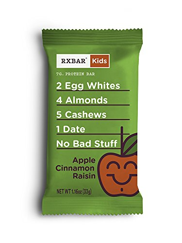 RXBAR Kids Whole Food Protein Bar, Apple Cinnamon Raisin, 1.16oz Bars, 16 Count by RXBAR